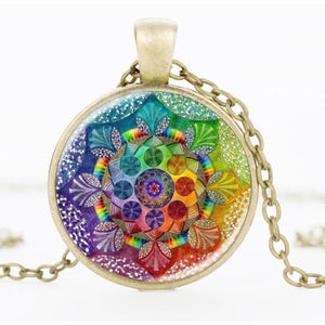 Glass Henna Yoga Necklace