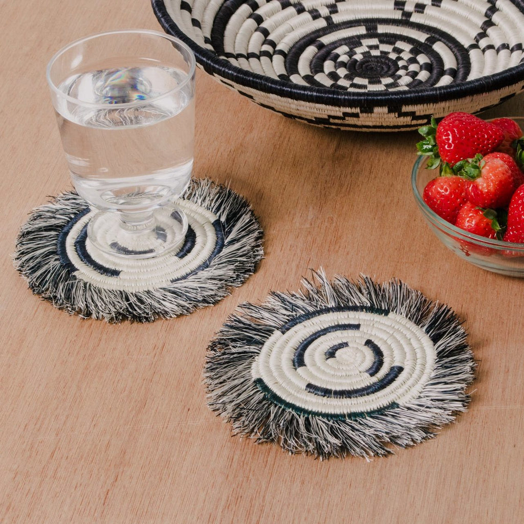 Fringed Geo Coasters