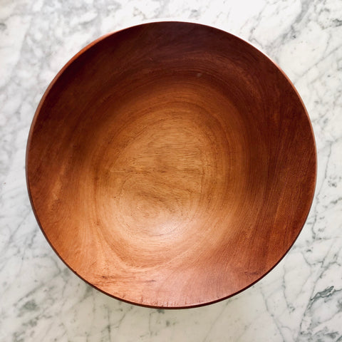 Large Mahogany Wood Salad Bowl