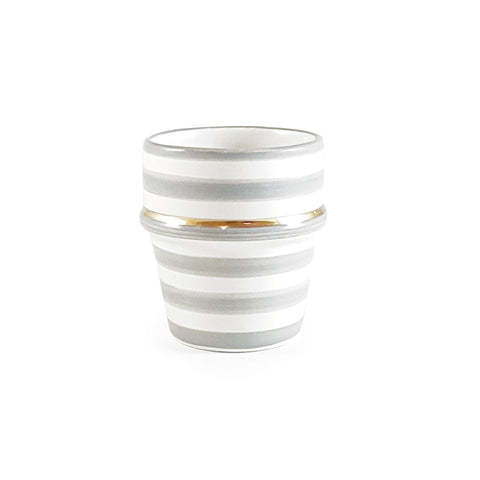 Gray Stripe Ceramic Espresso Cup