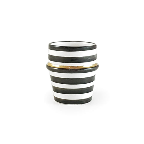 Black Stripe Ceramic Espresso Cup