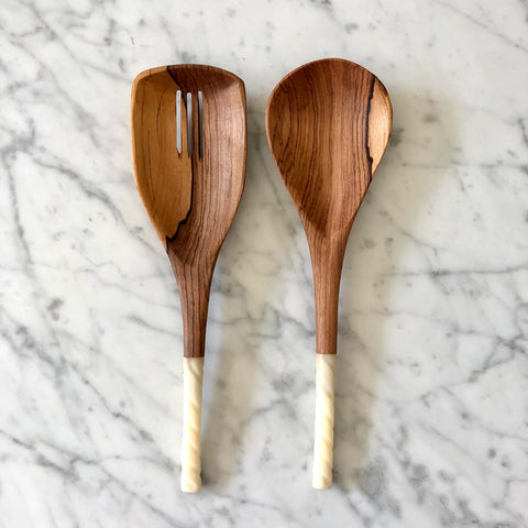 Olive Wood Spatula Salad Servers