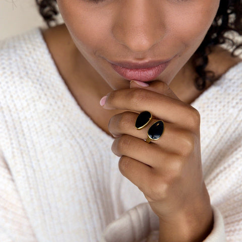 An Indra Horn Statement Ring