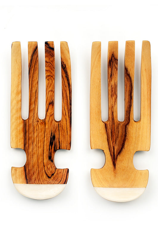 Olive Wood Salad Tossing Claws