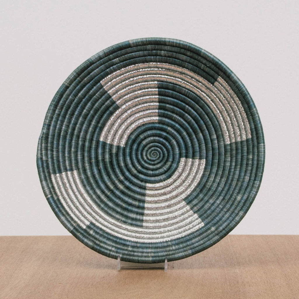 Large Mettalic Gray Inka Basket