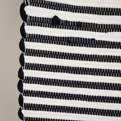 Black/White Stripe Runner