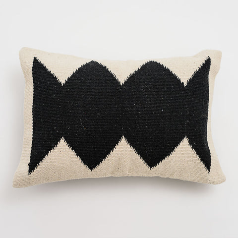 Tribal Black Cushion Rectangle