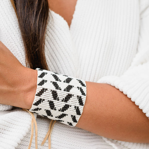 An Extra Wide Chevron Warrior Bracelet