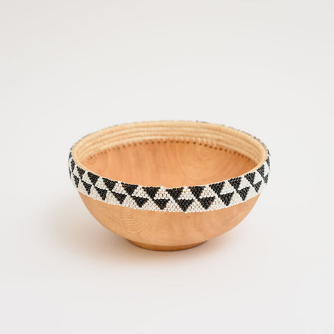 A Beaded Wooden Bowl Ii