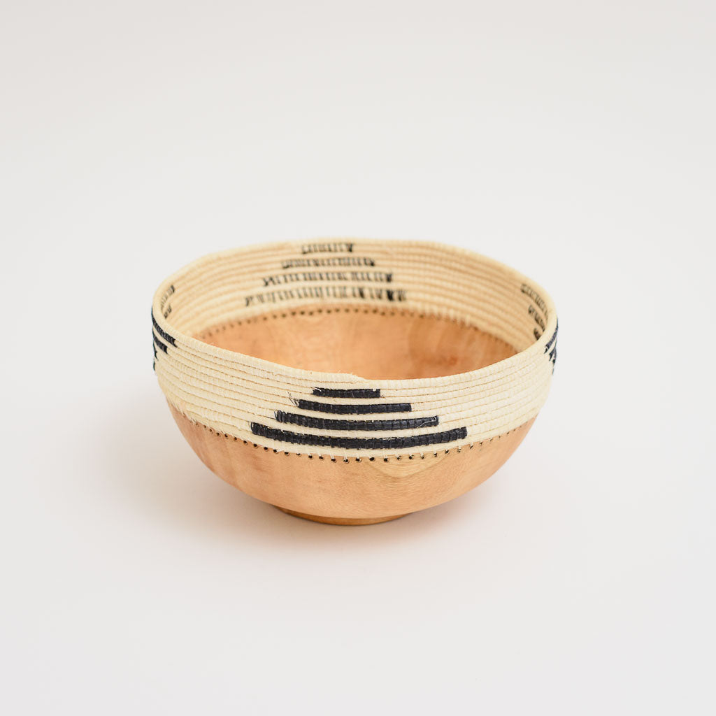 A Patterned Wooden Bowl