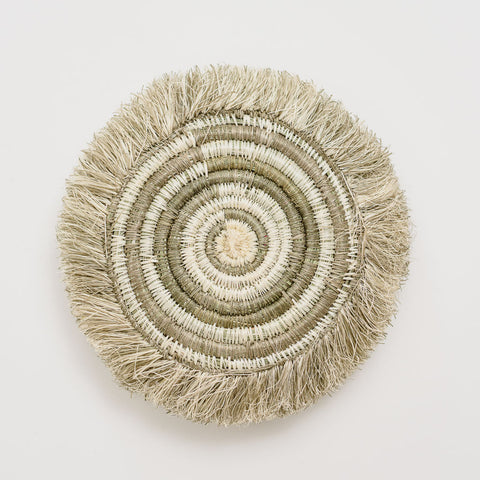 A Fringed Taupe Geo Coasters