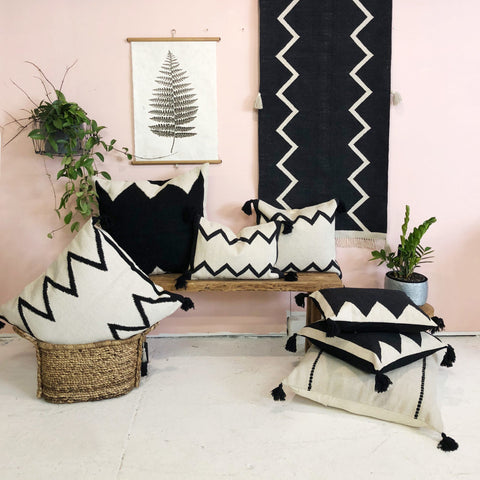 A Tribal Black Cushion (60\X60)