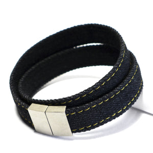 Armband Black Denim <br>Double Raw Plus