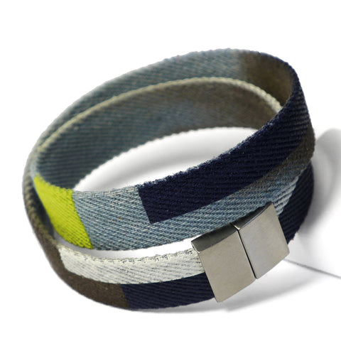 Starbeit Armband Blue Denim Double Color 1 Draufsicht