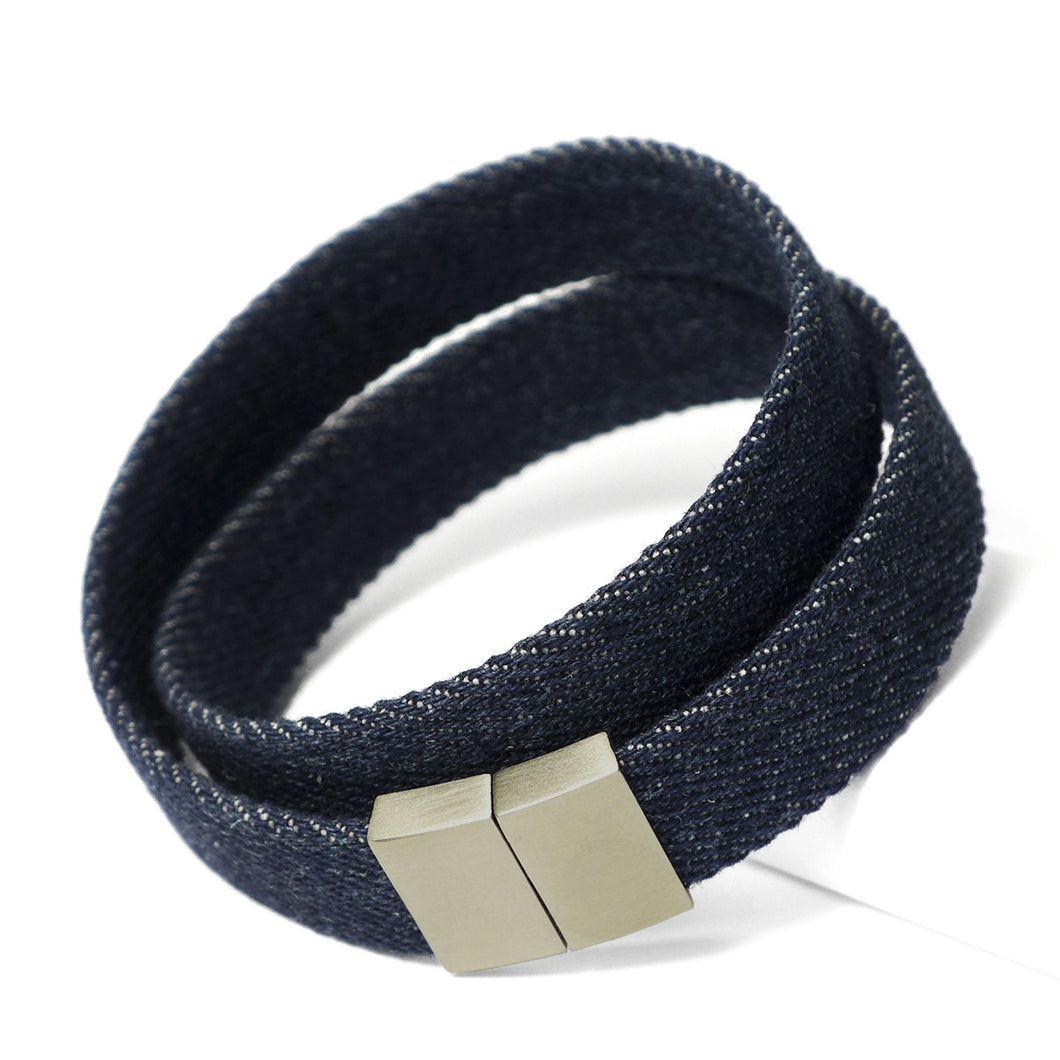Starbeit Armband Blue Denim Double Raw Hauptbild grau