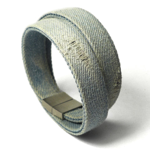Starbeit Armband Blue Denim Double Used Stehend 1