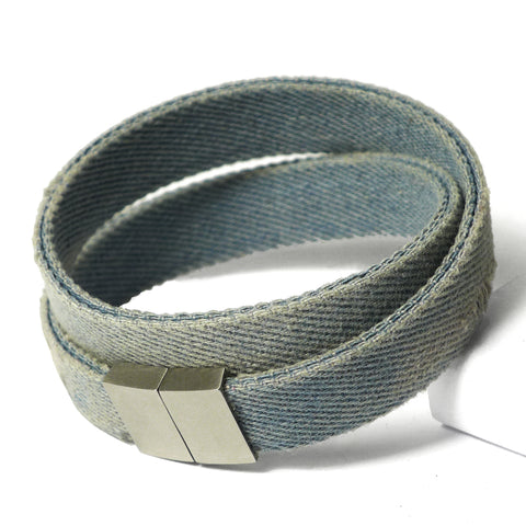 Starbeit Armband Blue Denim Double Used Liegend
