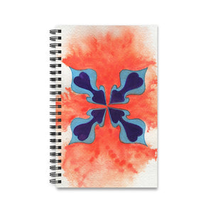 Four Hearts Spiral Notebook Journal