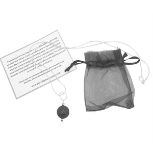 Lava Stone Diffuser Necklace Sterling Silver with Chain
