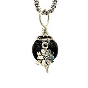Lava Stone Diffuser Necklace Lotus