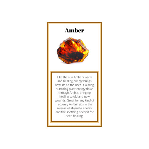 PDF Amber Crystal Meaning Card