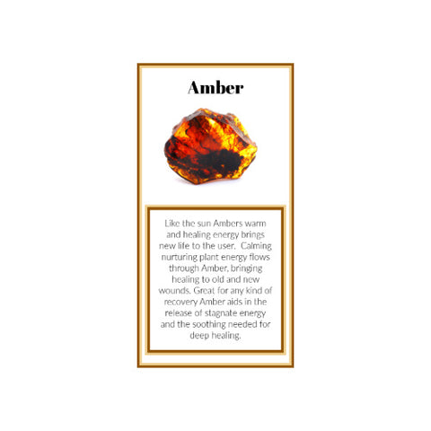 Amber Crystal Meaning Card