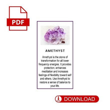 Amethyst Crystal Meaning Card