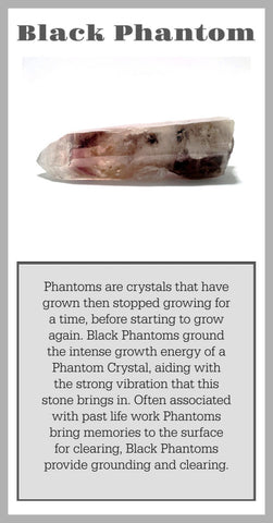 Black Phantom Crystal Meaning Card