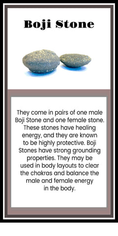Boji Stones Crystal Meaning Card