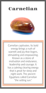 Carnelian Crystal Meaning Card