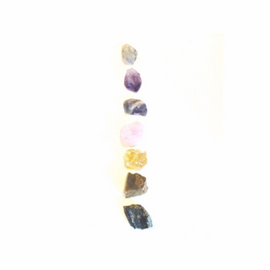 Chakra Stone Set with 7 Crystals and Smudge Kit