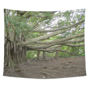 Hawaiian Banyan Tree Tapestry Wall Hanging 60 X 51