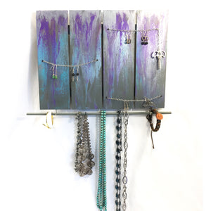 Vintage Key with Chain Jewelry Organizer