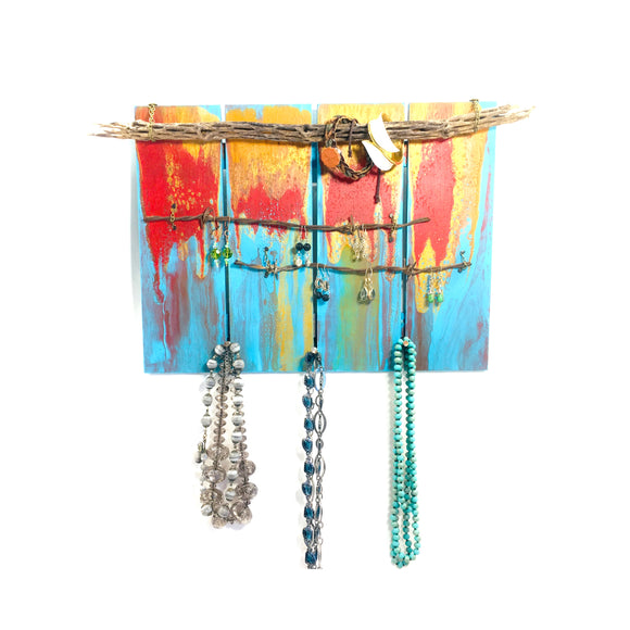 Choyo Cactus and Barb Wire Jewelry Organizer