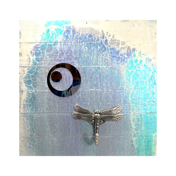 Dragonfly Wall Hook Mirror