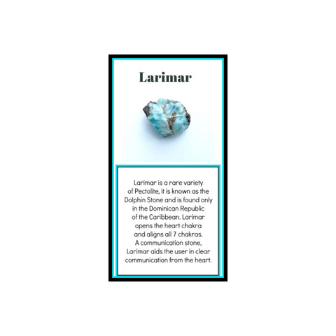 Larimar  Crystal Meaning Card