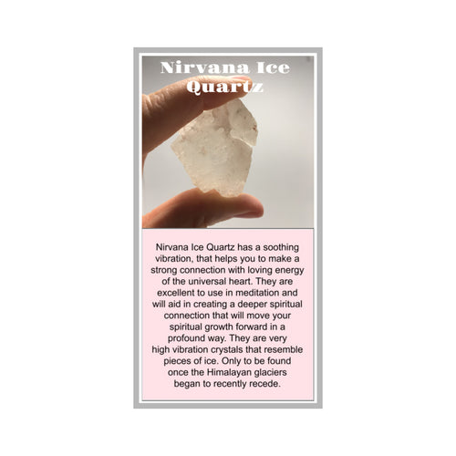Nirvana Ice Quartz Crystal Meaning Card