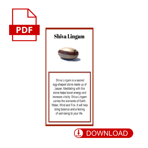 Shiva Lingam Crystal Meaning Card