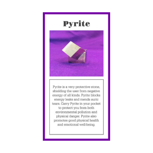 Pyrite Crystal Meaning Card
