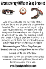 Snap Bracelet Diffuser with Clay Charm Dragonfly