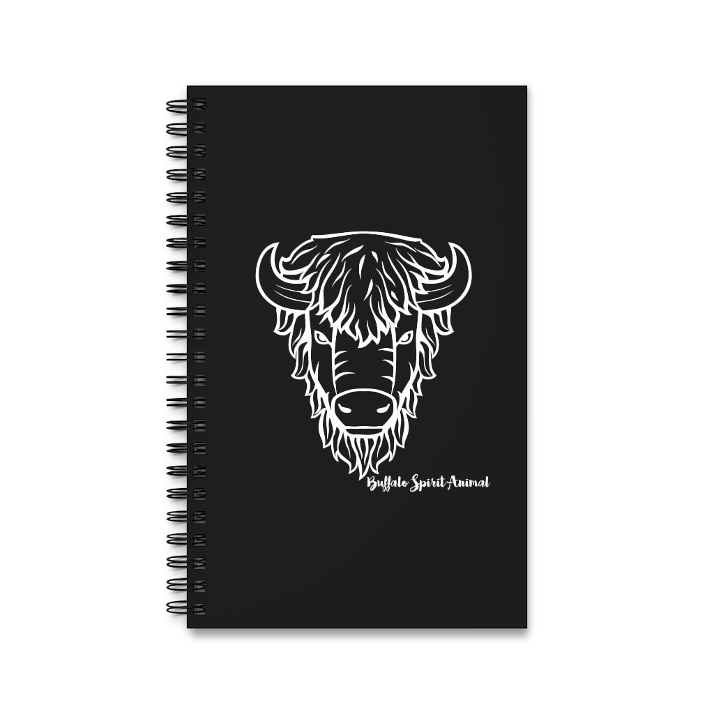 Buffalo Spirit Animal Spiral Notebook Journal