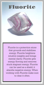 Fluorite Crystal Meaning Card
