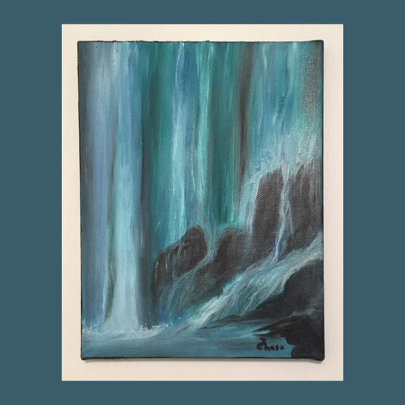 Oil Painting Nature Waterfall Painting Landscape Painting Wall Decor Oil On Canvas Paintings