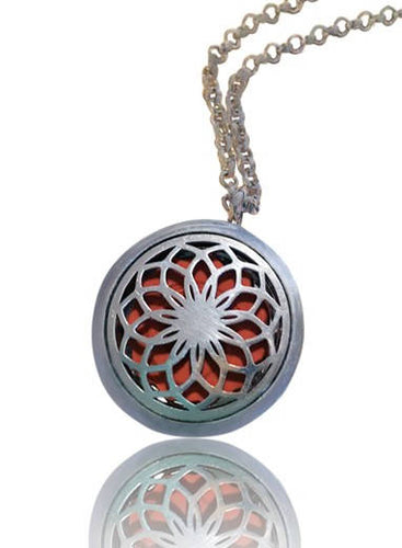 Aromatherapy Locket Flower of Life Pattern