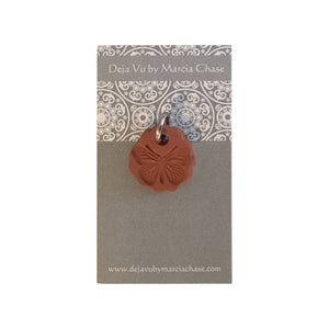Clay Aromatherapy Diffuser Pendant W/ Young Living Lavender Sample Size Essential Oil