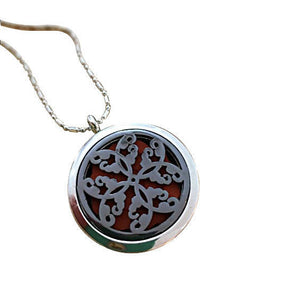 Aromatherapy Locket Necklace Butterfly Pattern