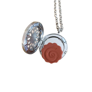 Aromatherapy Locket Necklace Clay Disc