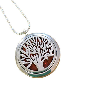 Aromatherapy Tree Locket Necklace