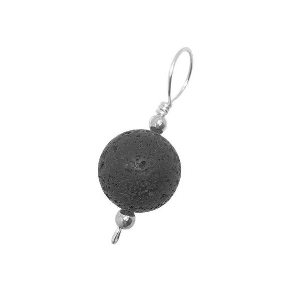 Lava Stone Diffuser Necklace Sterling Silver