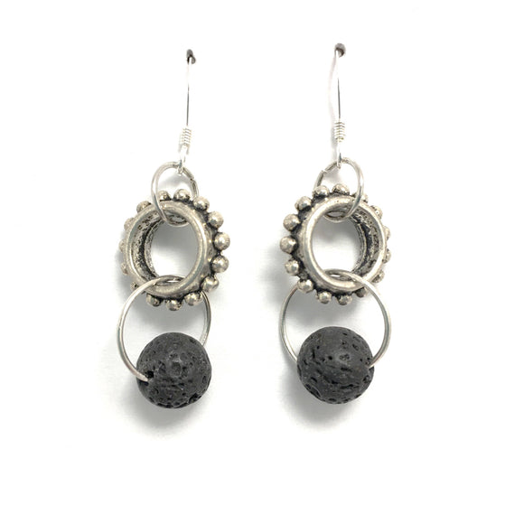 Lava Stone Diffuser Steampunk Earrings
